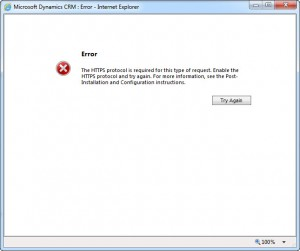 CRM 2013 Data Encryption https error