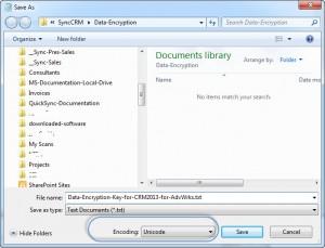 Saving CRM 2013 Data Encryption w Unicode