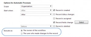 Execute Realtime Workflo as the Owner of the Workflow